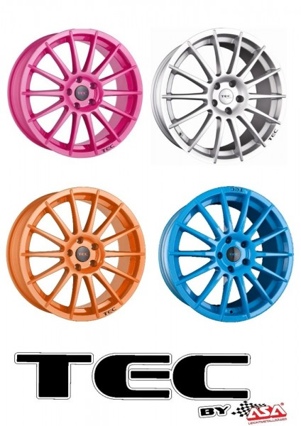 "ASA TEC AS2 17"" PINK ORANGE SILBER BLAU Opel Adam Adam Rocks Corsa C D E Karl"