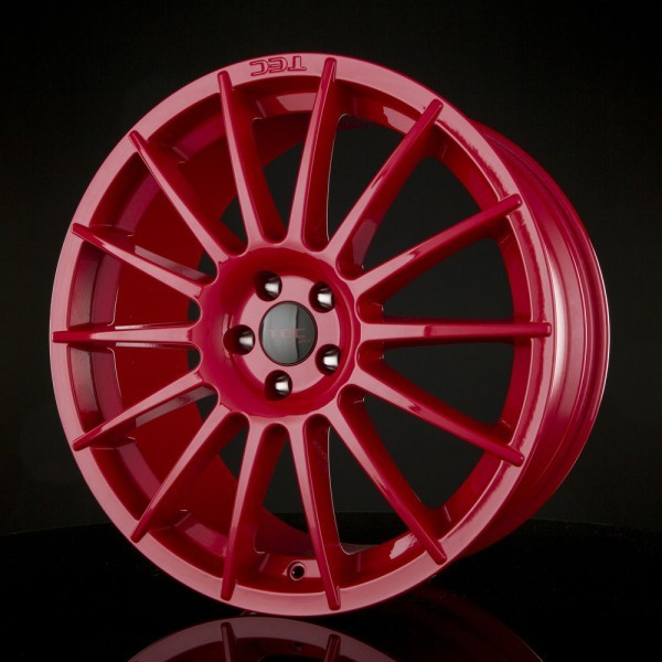 "TEC AS2 17"" Race-Red Fiat 500 Abarth 500C Alfa Mito Ford KA 2"