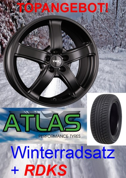 "TEC AS1 16"" mit 195/45 Atlas Polar Bear mit RDKS für Ford Fiesta ST Eco Boost TDCI"