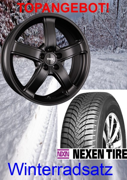 "TEC AS1 15"" mit 185/60 Nexen Winterreifen VW Polo 6R 6C GTI TDI"